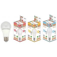 Лампа светодиодная НЛ-LED-A60-15 Вт-230 В-4000 К-Е27, (60х112 мм), Народная SQ0340-1515